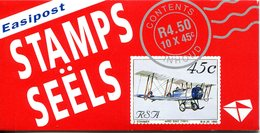 South Africa 1993 Aviation In South Africa - Postage Rate Information - Booklet (SG SB24) - Booklets