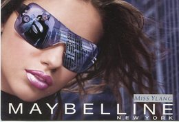 MAYBELLINE NEW YORK MISS YLANG NUEVO FOREVER METALLICS LABIAL BRILLO 2005 ARGENTINA TARJETA PUBLICIDAD MODERNA -LILHU - Reclame