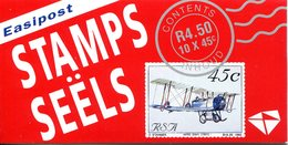 South Africa 1993 Aviation In South Africa - Information In Red Box - Booklet (SG SB24b) - Booklets