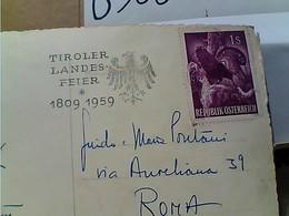 Austria INNSBRUCK -CARD STAMP SELO TIMBRE  1S GALLO CEDRONE 1959  GX5925 - 1945-60 Brieven