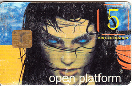 GREECE - Open Platform 5th Generation AT90(512) Prepaid Satellite TV Card, Used - Autres Collections