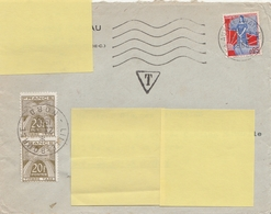LETTRE Du 20/5/60 TAXÉE à 0.40NF Avec T 87 X 2 (en Anciens Francs) - 1960-.... Cartas