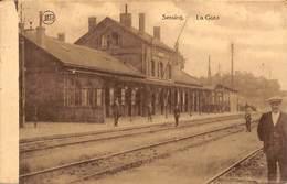 Seraing - La Gare (animée,peu Vue... Adhésif Au Dos) - Seraing