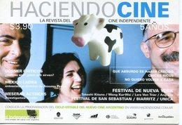 HACIENDO CINE REVISTA CINE INDEPENDIENTE 5 AÑOS 2000 ARGENTINA TARJETA PUBLICIDAD MODERNA -LILHU - Reclame