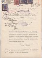 DOKUMENT 1925 Landesgericht Wien - 3 X 10.000 + 50.000 Kronen Stempelmarke, Prägesiegel, A3 Format Doppelseitig + Zus .. - Historische Dokumente