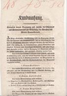 DOKUMENT 182? Kundmachung Licitation Auf Pergamentartigem Papier, A3 Format Doppelseitig, Dok.gefaltet, Gute Erhaltung - Historische Dokumente