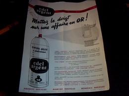 Publicité Tract  Affichette Edel Argent Peinture  Pour Tuyeau  De Poeles Paris Rue  Rubens  Annee 60  **  21x26 Cm Env - Francia