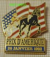 PRIX D'AMERIQUE  28 JANVIER 1992  PMU COURSES HIPPIQUES DRAPEAU Des USA  En  Qualité  ARTHUS - Games