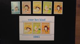 Antillen - Kinderzegels Nrs. 817/821 + Blok (1985) - Antilles