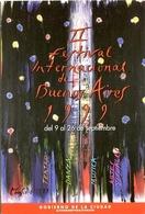 II FESTIVAL INTERNACIONAL DE BUENOS AIRES 1999 ARGENTINA TARJETA PUBLICIDAD MODERNA -LILHU - Reclame