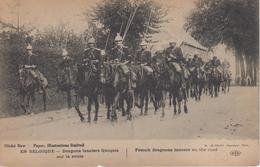 CPA En Belgique - Dragons Lanciers Français Sur La Route - Légende  Bilingue - (belle Animation) - Belgique
