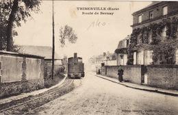 Thiberville - Route De Bernay - Train - Rare - Autres Communes