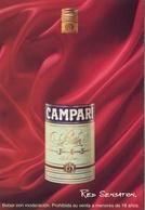 CAMPARI RED SENSATION RECETA NEGRONI 2000 ARGENTINA TARJETA PUBLICIDAD MODERNA -LILHU - Reclame