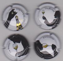 LOT 4 CAPSULES FINES BULLES . SERIE COMPLETE - Mousseux