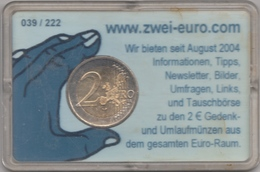 @Y@  Oostenrijk   2 Euro  2005  Coincard      Unc Staatsverdrag   Oplage 222 Stuks - Oesterreich
