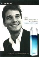 ROUGE GIVENCHY THE NEW FRAGRANCE FOR MEN PARFUM 2007 ARGENTINA TARJETA PUBLICIDAD MODERNA -LILHU - Advertising