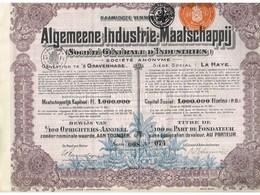 Ancienne Action - Algemeene Industrie -Maatschapij - Société Générale D'Industrie - Titre De 1928 - Rare - Industrie