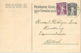 PK 68  Luthern - Huttwil             1921 - Enteros Postales