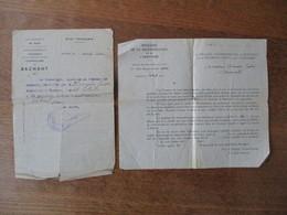 BACHANT NORD AVRIL 1944 LE MAIRE CERTIFIE QUE M. BERNIER JUSTIN A ETE SINISTRE LORS DU BOMBARDEMENT DU 11 AVRIL 1944 - Documents Historiques