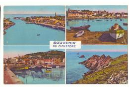CPSM. France. Souvenir Du Finistère.  Multi-Vues : Douarnenez. Le Port De Tréboul. Port D'Audierne. Ponte Du Raz. 1956 - Douarnenez