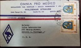 O) 1960 ECUADOR, ARMS OF CANTONS - PROVINCE OF COTOPAXI SALCEDO, OMNIA  PRO MEDICOS TO USA - Ecuador