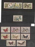 CENTRAFRIQUE  Papillons  Années 1960/63 N° Y/T :4/11**-31/34 (*) - Centrafricaine (République)