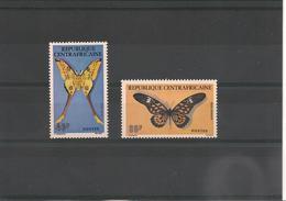 CENTRAFRIQUE Papillons    Année 1976  N° Y/T : 260/261** - Centrafricaine (République)