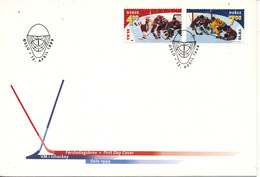 Norway FDC 12-4-1999 World Championship Icehockey In Oslo 1999 With Cachet - Hockey (Ice)