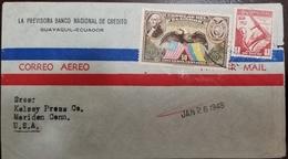 O) 1938 ECUADOR, WASHINGTON- AMERICAN EAGLE AND FLAGS, COMMUNICATIONS PROGRESS OF ECUADOR EXHIBITION, LA PREVISORA BANCO - Ecuador