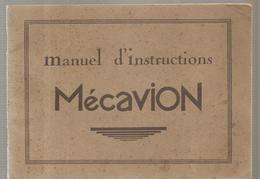 Mécano Manuel D'instruction Mécavion Catalogue Des Différents Modèles (18) D'avion Des Années 1950 - Meccano