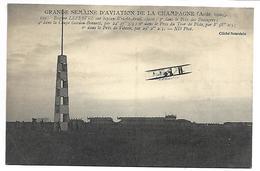 Grande Semaine D'Aviation De La CHAMPAGNE (Août 1909) - Eugène LEFEBVRE Sur Biplan - Reuniones