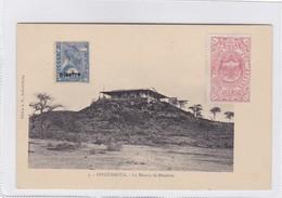 ETHIOPIE.DIRRE DAOUA. LA MAISON DE MENELICK. ED A.M. ADDIS. AVEC 2 TIMBRES-RARE-BLEUP - Ethiopië