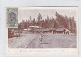 ETHIOPIE. ADDIS ABEBA,  UN CARREFOUR PRES DU GHEBI. ETHNIC VINTAGE. CIRCULEE  1919.-RARE-BLEUP - Ethiopië
