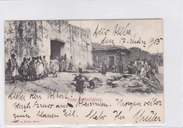 ETHIOPIE. PORTE DE GUILDESSA. A MICHEL. ETHNIC VINTAGE. CIRCULEE A SARANJEBO 1903.-RARISIME-BLEUP - Ethiopië