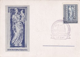 Dienstbotenmuttergottes / Madone Des Domestiques. Wiener Dom. O Wiener Messe 1947 - Christentum