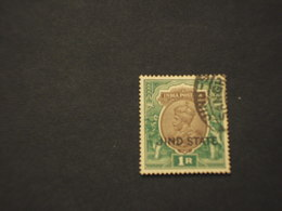 JHND - 1927/33 RE 1 R. -  TIMBRATO/USED - Jhind