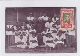 ETHIOPIE. DANS LES CONTREES GALLEA. LE PETIT SEMINAIRE DE LA MISSION. CIRCULEE 1917.-BLEUP - Ethiopië
