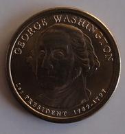 1 Dollar USA (1 St President George Washington 1789-1797) Presidential Dollars 2007 World Coins Km401 - Etats-Unis