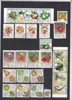 43 Timbres Fruits Et Légumes Dont 24 Timbres Neufs En 4 Séries (12+4+4+4) - Obst & Früchte