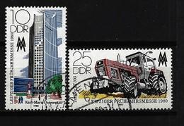 DDR - Mi-Nr. 2498 - 2499 Leipziger Frühjahrsmesse Gestempelt (2) - Gebraucht