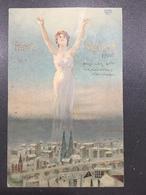 Art Nouveau - Raphael Kirchner - Woman Dominating Landscapes - Rif. Dell'Aquila E25-6 - Kirchner, Raphael