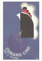 CPM - Paquebot - CUNARD LINE   USA & CANADA - Advertising