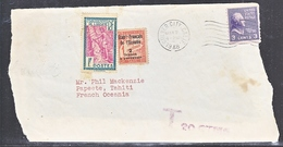 U.S.  TO OCEANIE  PORTO  DUE  FRONT  ONLY - Oceania (1892-1958)
