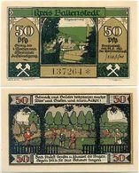 Ballenstedt, 1 Schein Notgeld 1921, Zwerge Garten Bergbau, 50 Pfennig - Lokale Ausgaben