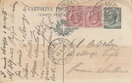 S. Mango Sul Calore. 1923. Annullo Frazionario (6 - 93), Su Cartolina Postale Completa Di Testo - 1900-44 Victor Emmanuel III