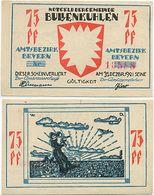 Bullenkuhlen Bei Elmshorn, 1 Schein Notgeld 1921, Frau Mit Kind, 75 Pfennig - Lokale Ausgaben