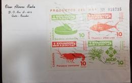 O) 1986 ECUADOR, EXPORTA - EXPORTS-SHRIMP-TUNA-SARDINES-MICIP EMBLEM, XF - Ecuador