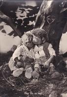 MECKI. SAG DU SU MIR! AUGUST GUNKEL, ECHT FOTO. CIRCULEE 1958 GERMANY A ARGENTINE STAMP A PAIR -BLEUP - Mecki