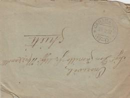 Caramanico. 1922. Annullo Frazionario (19 - 12), Su Lettera Affrancata Al Verso - Poststempel