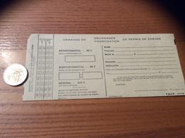 Demande De Délivrance /prorogation De Permis De Chasse N°27460 - Steuermarken